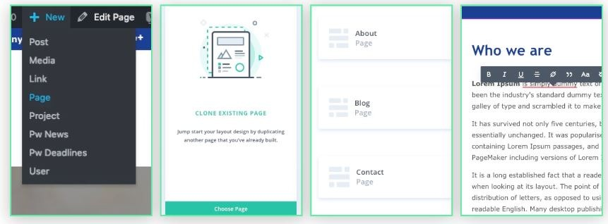 New feature: Page creation