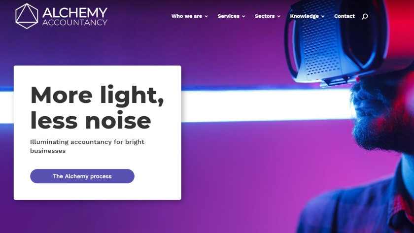 Alchemy Accountancy's new website.