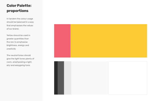 Colour palette for an accountancy firm.