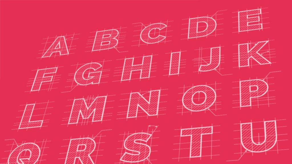 Font design.
