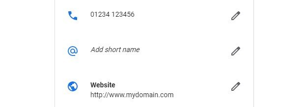 """Google My Business """"add short name"""""""