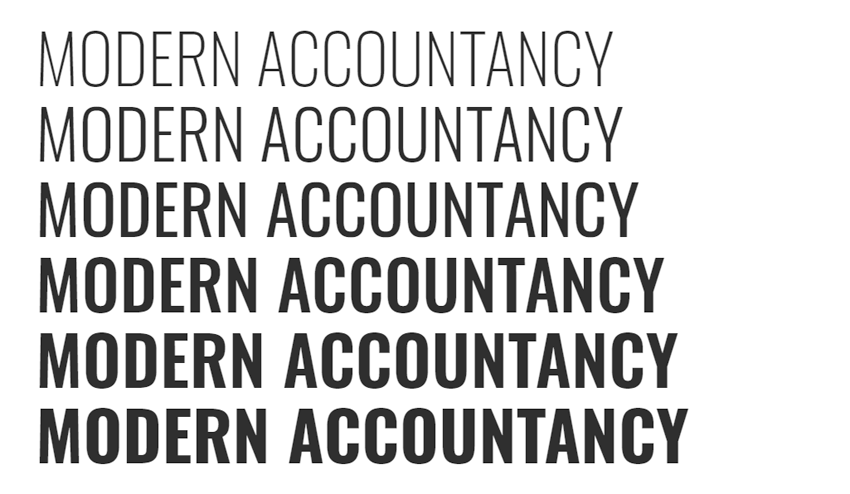 What does your font say about your accountancy firm's proposition and personality?
