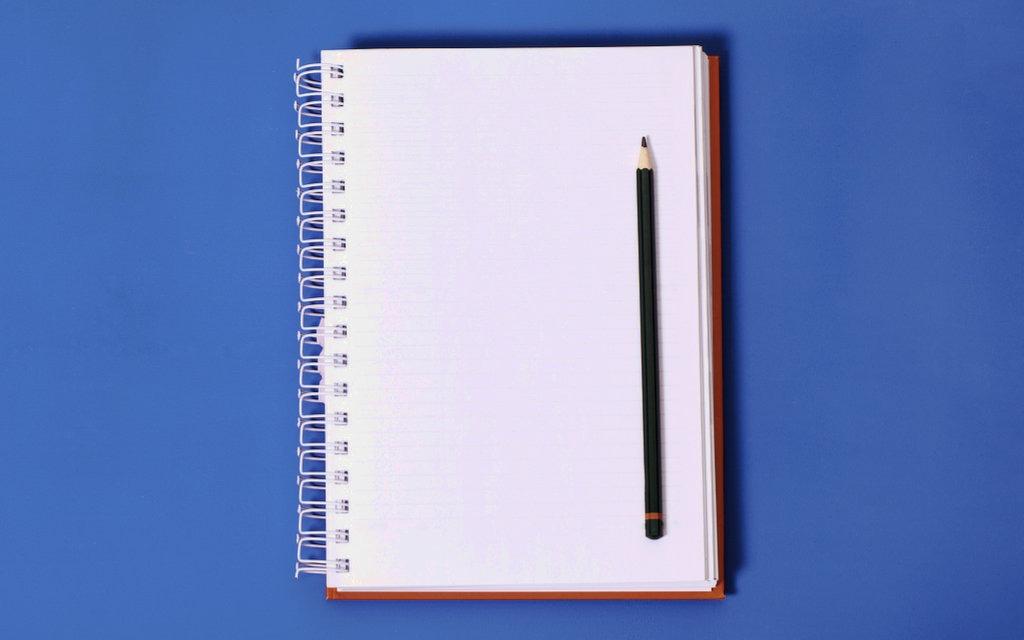 Content ideas notebook.