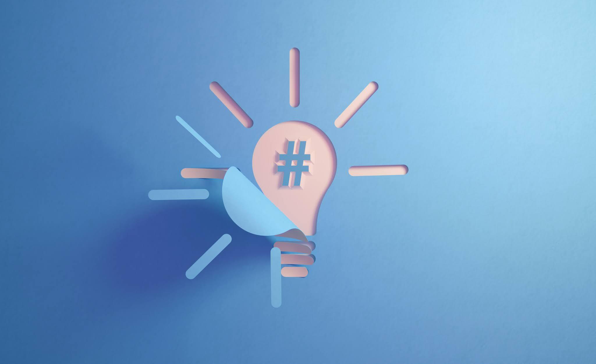Social media hashtag and light build