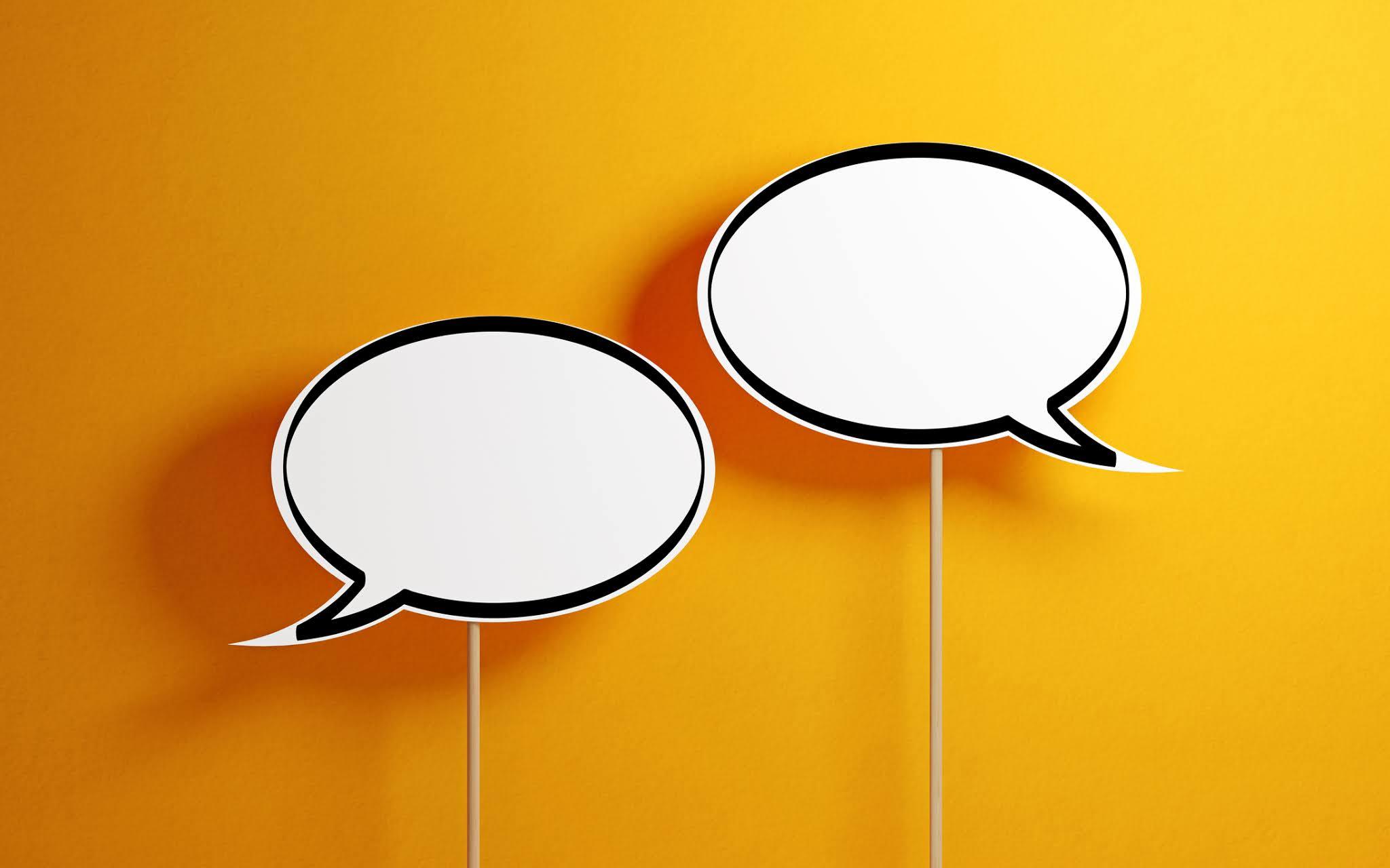 Two speech bubbles