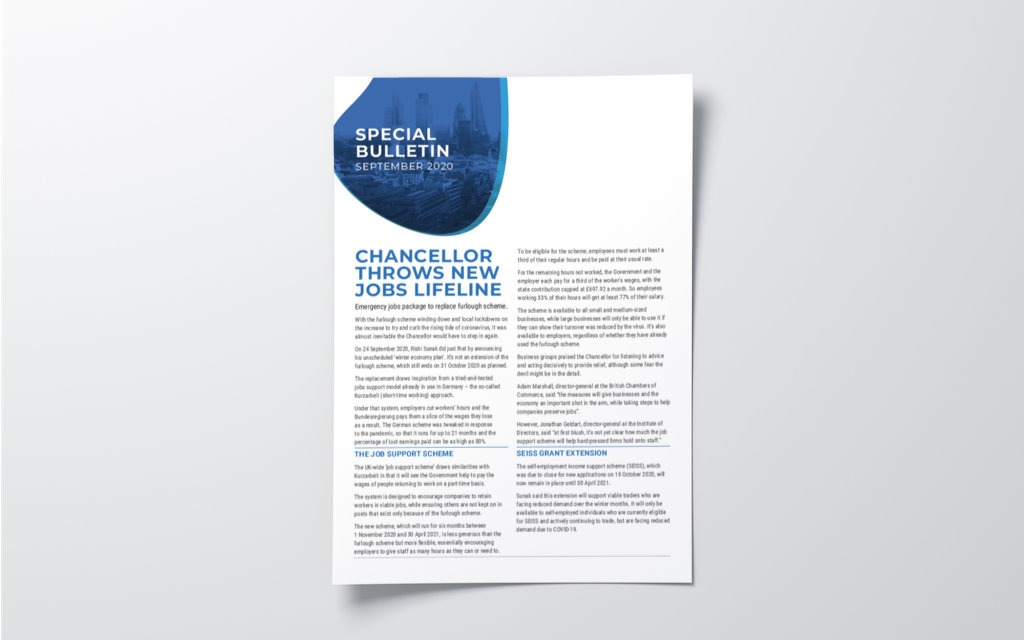 Covering the Chancellor's winter economy plan for PracticeWeb clients