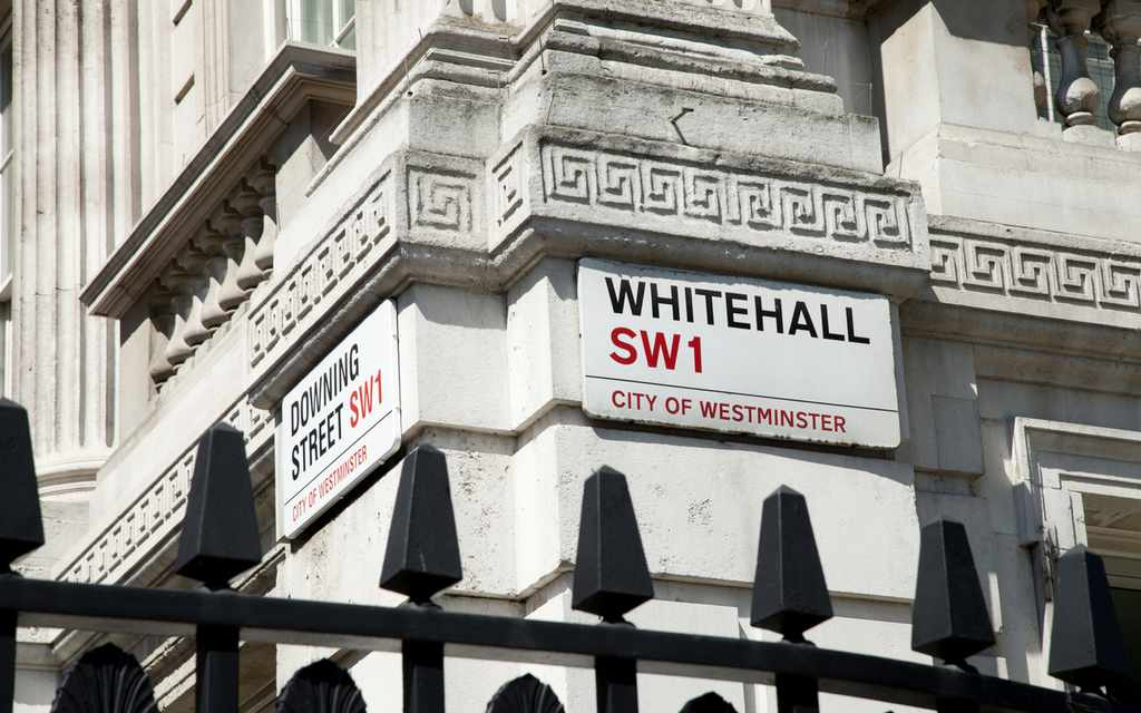 Whitehall and Downing Street.